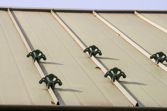standing seam metal roofing with snow guards