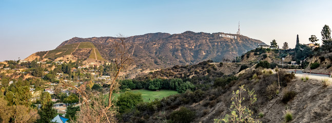hollywood hills and surrounding landscape near los angeles