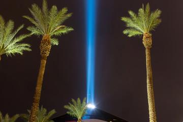 Poster Las Vegas las vegas nevada city skyline at night