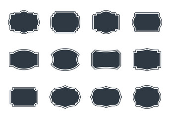 Vintage labels set, empty blank frame in retro Fototapete
