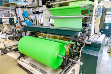 factory for the production of biodegradable eco-friendly shopping bags