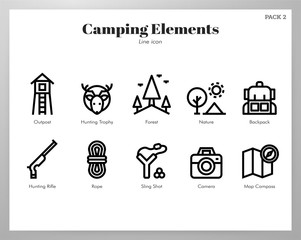 Camping elements Line pack
