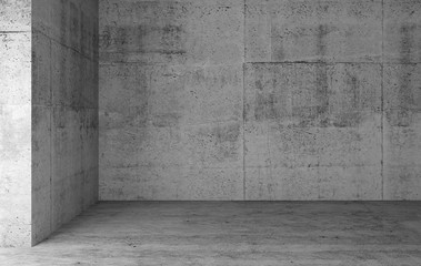 Abstract empty gray concrete room interior Wall mural