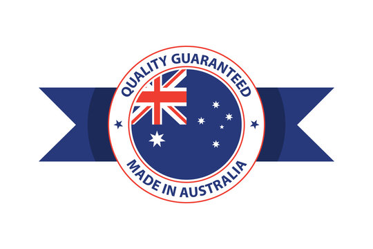 Made in Australia quality stamp. Original vector illustration
