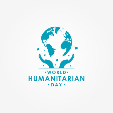World Humanitarian Day Vector Design With Globe Template