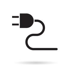 electric plug icon- vector illustration