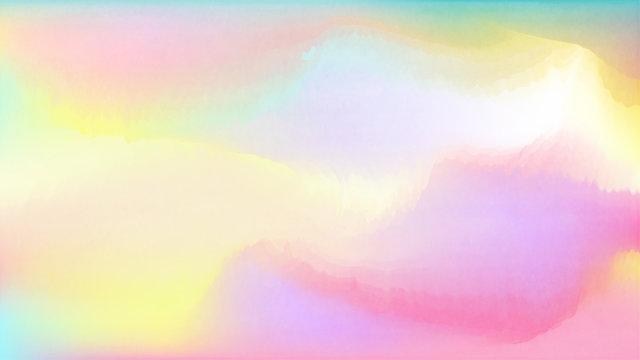 Pastel watercolor backdrop.  Fashion background. Watercolor brush strokes. Creative illustration. Artistic color palette.  Fluid Gradient Cover. Colorful Pastel.