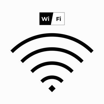 Wi Fi wave internet signal symbol vector icon