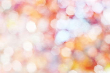 Fall blurred background. Autumnal natural bokeh for background. - Image