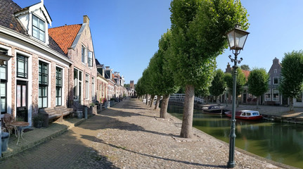 Houses next to a canal in Sloten