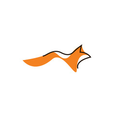 minimal fox logo icon