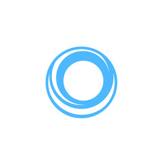 abstract blue cirlce logo icon