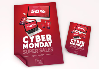 Cyber Monday Poster and Flyer