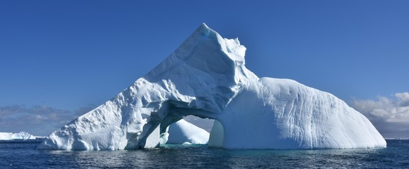 Panorama iceberg antarctique