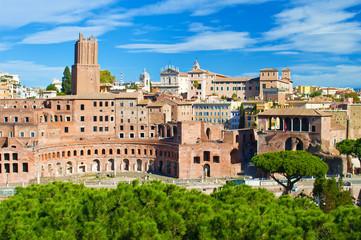 Ruins of Mercati di Traiano, Foro Traiano and Casa dei Cavalieri di Rodi
