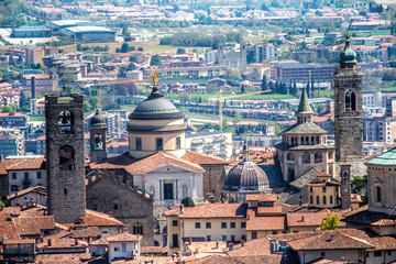 View of Bergamo with Churches