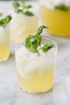 Basil and mint lemonade