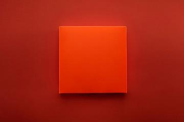 Funny orange box, designed on an orange background.