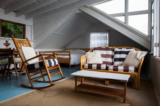 Rustic Interior of Boathouse loft
