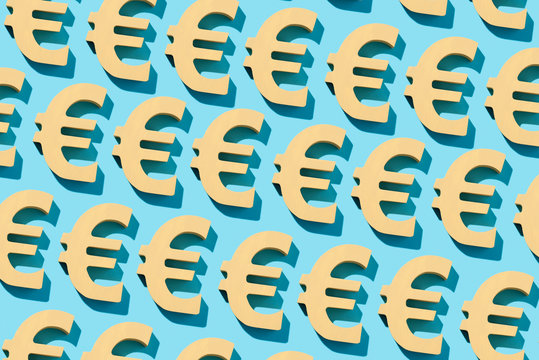 mosaic of euro signs