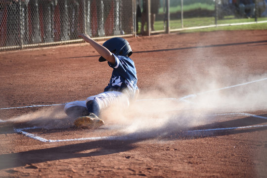Safe at home plate