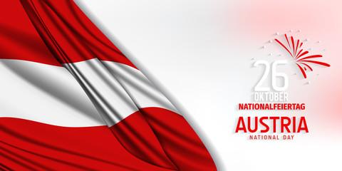 Austria Independence Day (Österreich Nationalfeiertag). October 26, Independence day of Austria vector. Austria national day.