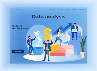 Business Finance Data Analysis Flat Landing Page