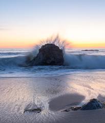 California Coast Beach Sunset