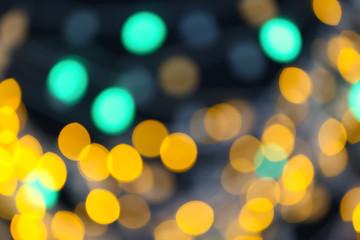Blurred lights on dark background