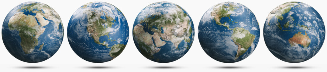Wall Mural - Planet Earth weather globe set