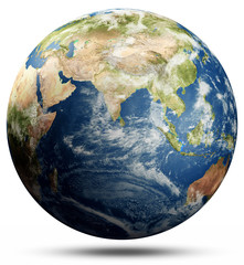 Wall Mural - World map sphere