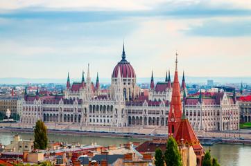 Beautiful view of Hungarian parliament, Budapest , Hungary