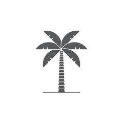 palm tree vector icon symbol isolated on white background