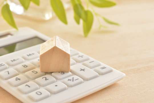 Wooden House on a calculator