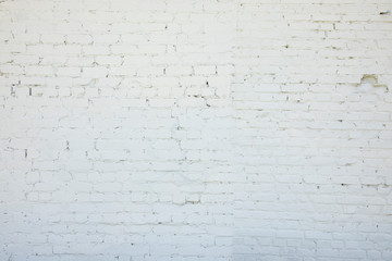 Modern white brick wall texture for background