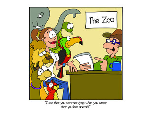 Job interview at the zoo