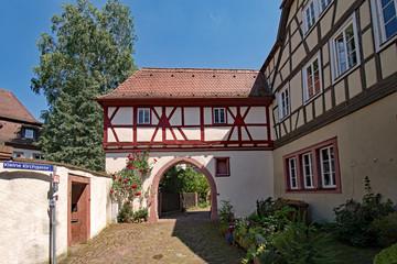 In der Altstadt von Lohr am Main in Unterfranken, Bayern, Deutschland