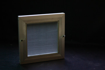 Mosquito screen window with frame for housing