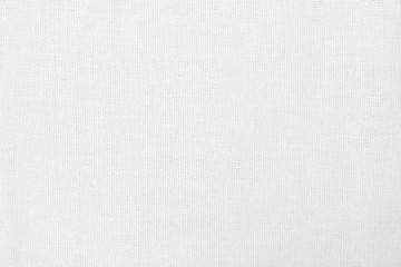 White cotton fabric texture background, seamless pattern of natural textile. Fototapete