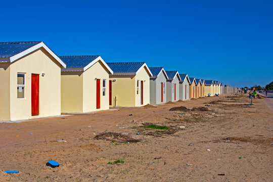 Low-cost RDP homes under construction