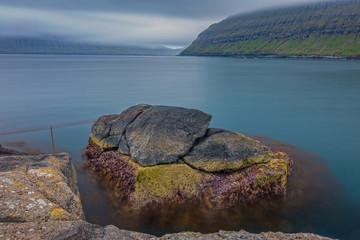 Rinkusteinar rocks ultra long exposure in faroe islands