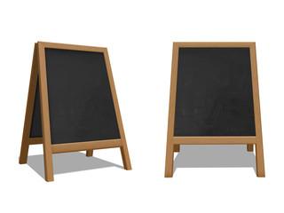 Street chalk board set, advertisement outdoor stand