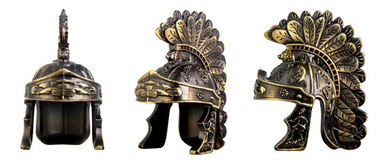 Roman helmet isolated on white
