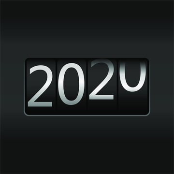 2020 New Year Odometer,  New Year 2020 design