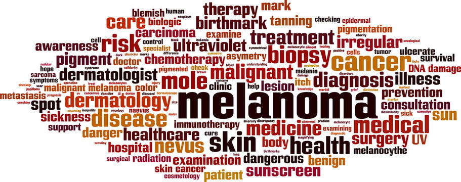 Melanoma word cloud