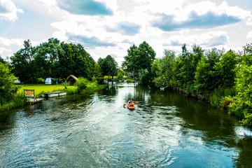 Rzeka kajaki rower wodny lato wakacje urlop
