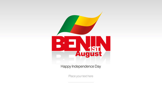 Benin Independence Day flag logo icon banner
