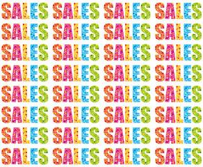 Multicolored summer sales wallpaper or newsletter background.
