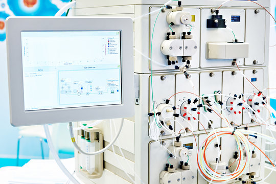 Chromatography system in chemical lab