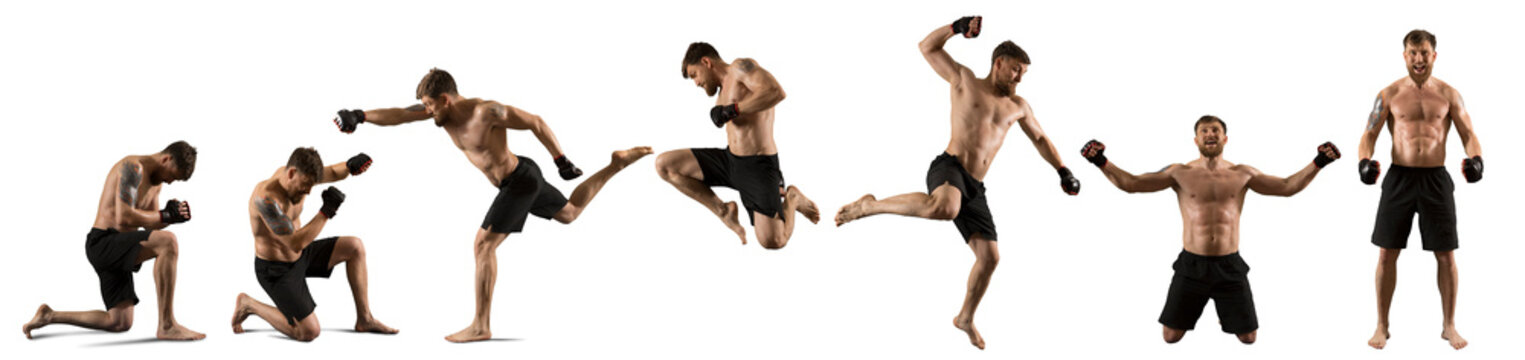 MMA male fighter isolated